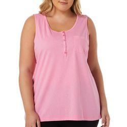 Womens Henley Sleeves Pajama Top