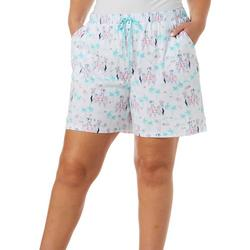 Plus Dog Cruise Pajama Bermuda Shorts