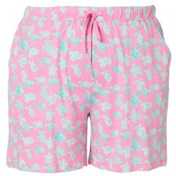 Coral Bay Plus Turtle Print Pajama Shorts