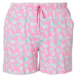 Plus Turtle Print Pajama Shorts