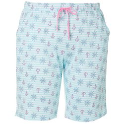 Coral Bay Plus Nautical Stripe Pajama Bermuda Shorts