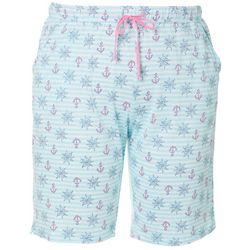 Plus Nautical Stripe Pajama Bermuda Shorts