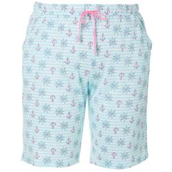 Plus Nautical Stripe Pajama Bermuda Shorts