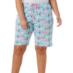 Plus Flamingo Pond Pajama Shorts