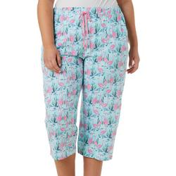 Plus Flamingo Pond Pajama Capris