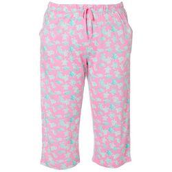 Womens Turtle Pajama Bermuda Shorts