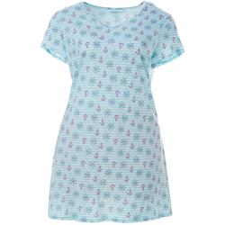 Plus Sailor Stripe Print Nightgown