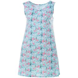 Coral Bay Womens Flamingo Print Nightgown