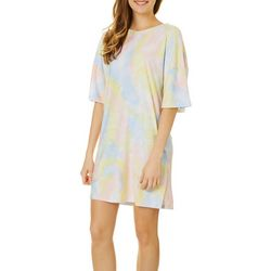 Derek Heart Juniors Filmore Tie Dye Sleep Shirt