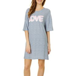 Derek Heart Juniors Love Striped Sleep Shirt