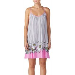 Kensie Juniors Floral Border Print Chemise Nightgown