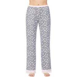 Kensie Juniors  Floral Lace Trim Pajama Pants