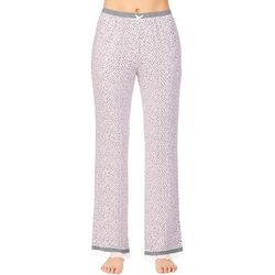 Kensie Juniors  Spotted Lace Trim Pajama Pants