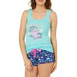 Lala Sleepwear Juniors Daydream Unicorn Pajama Shorts Set