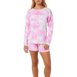 Wallflower Juniors Lazy Day Every Day Pajama Shorts Set