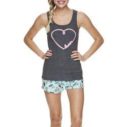 Wurl Juniors Sweet Dreams Heart Pajama Shorts Set