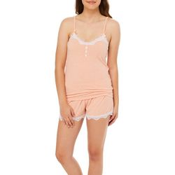 Wurl Juniors Lace Trim Pajama Shorts Set