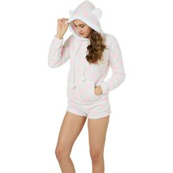 Em & Alfie Juniors Hearts Hoodie & Pajama Shorts Set