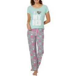 Grumpy & Gorgeous Juniors Love My Bed Pajama Pant Set