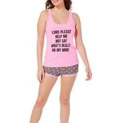 Not A Morning Person Juniors On My Mind Pajama Shorts Set