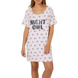 90a434ef791 Not A Morning Person Juniors Night Owl T-Shirt Nightgown