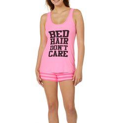 Grumpy & Gorgeous Juniors Bed Hair Don't Care Pajama Set