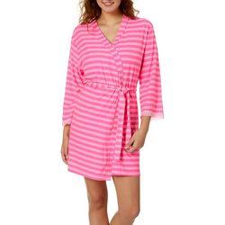 Grumpy & Gorgeous Juniors Stripe Print Robe