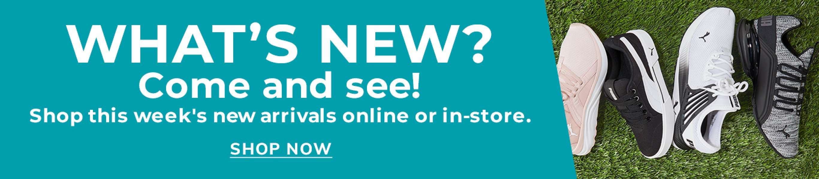 What's New? Come and see! Shop this week's new arrivals online or in-store. Shop Now