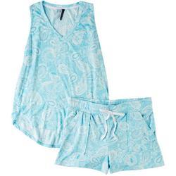 Intimates Shell Paisley Shorts Set