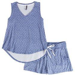 Jaclyn Intimates Micro Dot Printed Shorts Set
