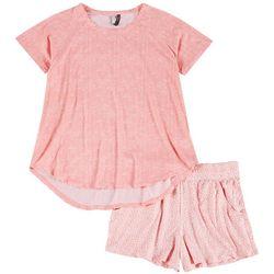 Jaclyn Intimates Dotted Print Pajama Shorts Set