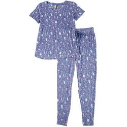 Jaclyn Intimates Womens Wine Lover Pajama Set