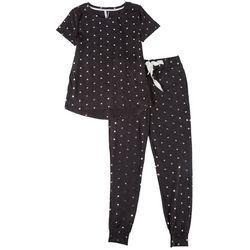 Jaclyn Intimates Womens Star Print Pajama Jogger Set