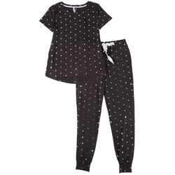 Womens Star Print Pajama Jogger Set