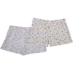 Jaclyn Intimates Womens 2-Pc Yummy Printed Pajama Shorts