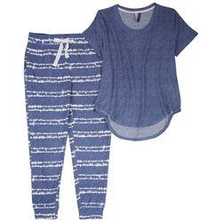Jaclyn Intimates Womens Shibori Tie Dye  Pajama Jogger Set
