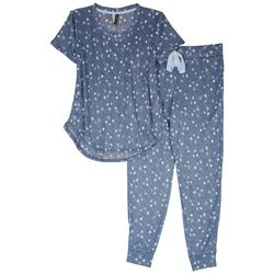 Jaclyn Intimates Womens Celestial Print Pajama Jogger Set