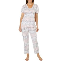 Jaclyn Intimates Womens Dotted Pajama Pants Set