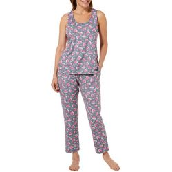 Jaclyn Intimates Womens Watermelon Capris Pajama Set
