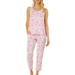 Jaclyn Intimates Womens Flamingo Capris Pajama Set