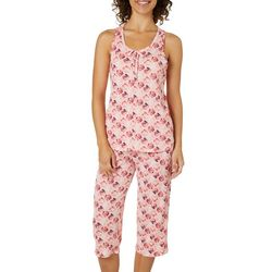 Jaclyn Intimates Womens Seashell Capris Pajama Set