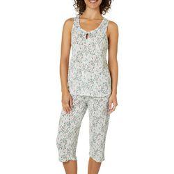 Jaclyn Intimates Womens Floral Print Capris Pajama Set
