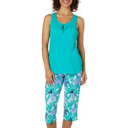 Jaclyn Intimates Womens Tropicana Capris Pajama Set