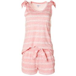 Jaclyn Intimates Womens Shibori Pajama Shorts Set