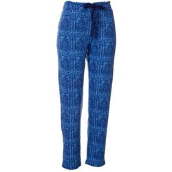 Jaclyn Intimates Womens Thatched Print Slim Pajama Pants