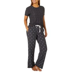 Jaclyn Intimates Womens Star Print Pajama Pants Set