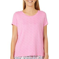 Jaclyn Intimates Womens Soft Sensations High-Low Pajama Top