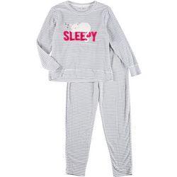 2-Pc. Womens Sleepy Cat Pajama Set