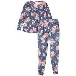 Jaclyn & Co Womens Flamingo Print Pajama Jogger Set