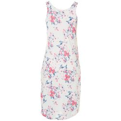 Jaclyn Intimates Womens Sleeveless Floral Sleep Dress